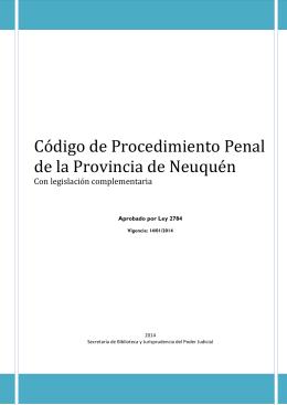 Código de Procedimiento Penal de la Provincia de Neuquén