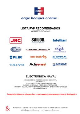 lista pvp recomendados electrónica naval