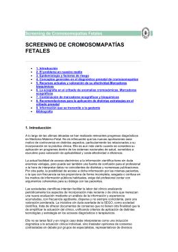 SCREENING DE CROMOSOMAPATÍAS FETALES
