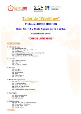 """Taller de """"Workflow"""""""
