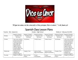 Spanish Class Lesson Plans