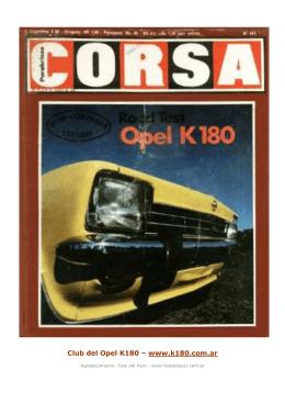 Club del Opel K180 – www.k180.com.ar