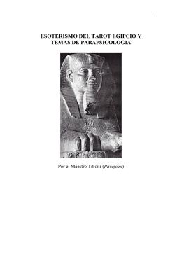 ESOTERISMO DEL TAROT EGIPCIO Y TEMAS DE