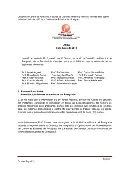 Universidad Central de Venezuela. Facultad de Ciencias Jurídicas y
