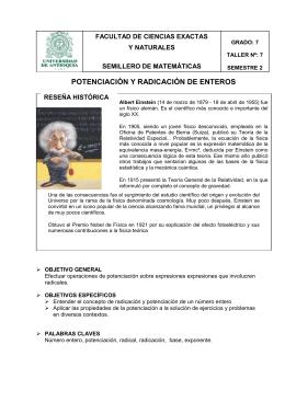 POTENCIACIÓN Y RADICACIÓN DE ENTEROS