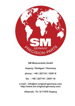 K6 BLOCK PARTS - SM Motorenteile GmbH