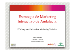 Estrategia de Marketing I i d A d l í Interactivo de Andalucía.