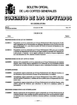 BOLETN OFICIAL - Congreso de los Diputados