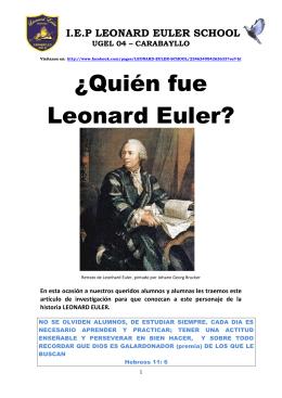 ¿Quién fue Leonard Euler?