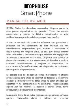 Descargar Manual de usuario del TopHouse Smartphone