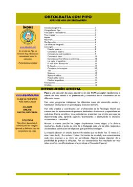 Ortografía con Pipo (PDF, 16 págs., 1,1MB)