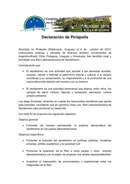 Declaración de Piriápolis