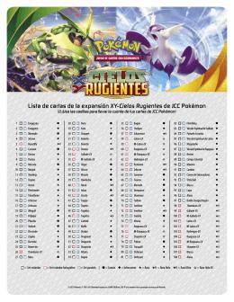 Lista de cartas de la expansión XY-Cielos Rugientes de