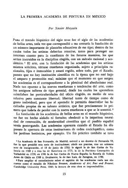 AnalesIIE34, UNAM, 1965. La primera academia de pintura en México