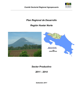 Plan Regional de Desarrollo Región Huetar Norte 2011-2014