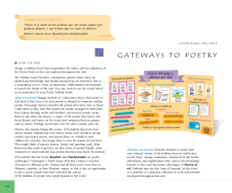 gAtEwAYS tO POEtRY - Santillana USA Promotional Material