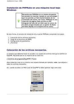 Instalación de PHPNuke en una máquina local