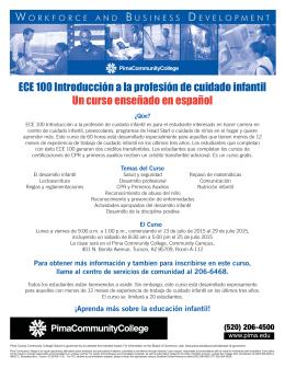 ECE 100 Introducción a la profesión de cuidado infantil
