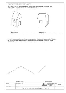 FICHA 2. Perspectiva isometrica y caballera CASA.