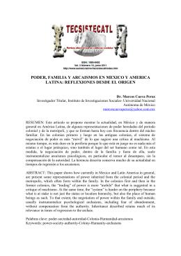 poder, familia y arcaismos en mexico y america latina