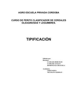 TIPIFICACIÓN - Agro Escuela Privada Córdoba