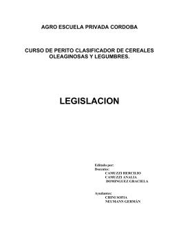 Legislación - Agro Escuela Privada Córdoba