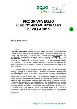 PROGRAMA EQUO ELECCIONES MUNICIPALES SEVILLA 2015