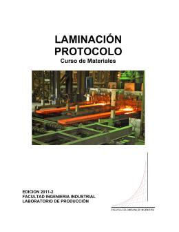 LAMINACIÓN PROTOCOLO - Escuela Colombiana de Ingeniería