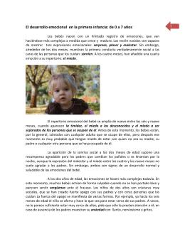 El desarrollo emocional en la primera infancia: de 0 a 7 años