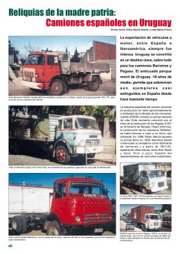 Camiones españoles en Uruguay