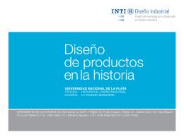 Diseño de productos en la historia - Instituto Nacional de Tecnología
