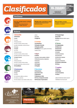 2015-11-01 clasificados - El Diario de la República