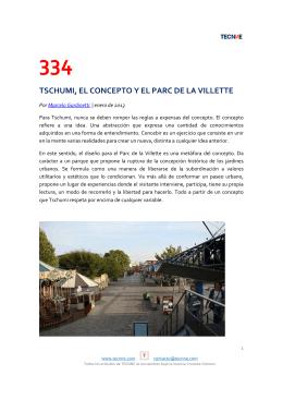 334 tschumi, el concepto y el parc de la villette