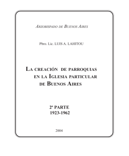 2ª PARTE 1923-1962 - Historia de Parroquias