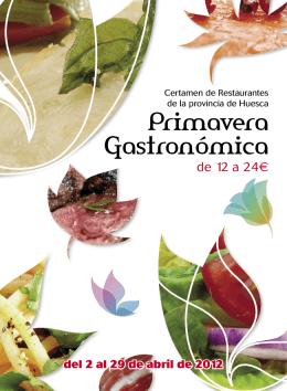 Folleto de la Primavera Gastronómica