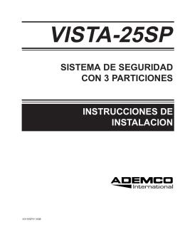 sistema de seguridad con 3 particiones instrucciones de instalacion