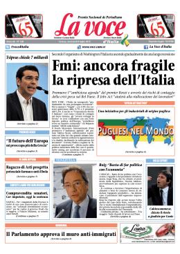 08 LUGLIO 2015 - La Voce d`Italia