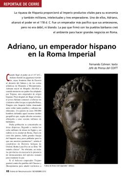 Adriano, un emperador hispano en la Roma Imperial