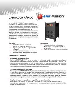 GNB® Fusion™ Cargador Rapido GB4097S