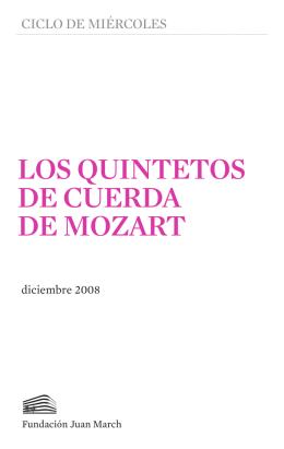 LOS QUINTETOS DE CUERDA DE MOZART