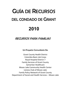 GUÍA DE RECURSOS - Grant County Health District