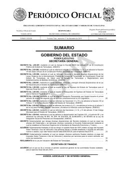 Ley Ingresos - Prespuesto Egresos del Estado 2015