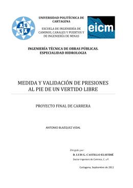 Antonio Blázquez Vidal - Universidad Politécnica de Cartagena