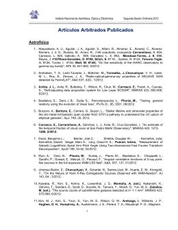 Artículos Arbitrados Publicados