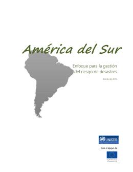 América del Sur - Biblioteca Virtual en Prevención y Atención de