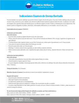 Indicaciones Examen de Enema Baritado