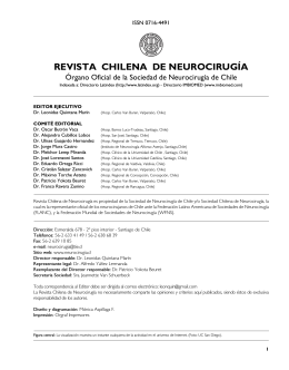 REVISTA CHILENA DE NEUROCIRUGÍA