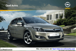Catálogo del Opel Astra
