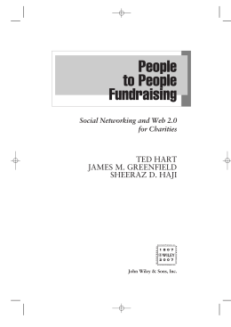 People to People Fundraising: Social Networking and Web