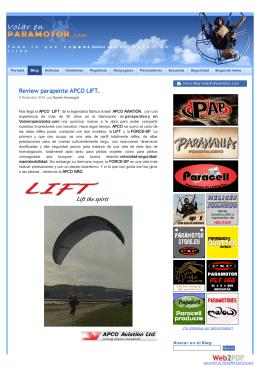 Review parapente APCO LIFT. | Volar en Paramotor